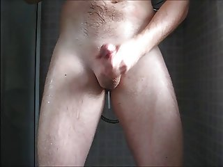 Cumming in the shower