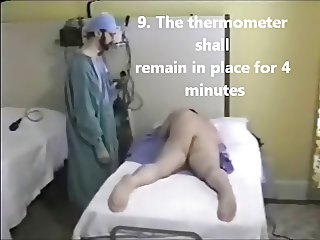 Instructions for rectal temperature taking