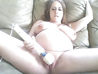 Pregnant Girl Masturbates and Talks Dirty On Cam