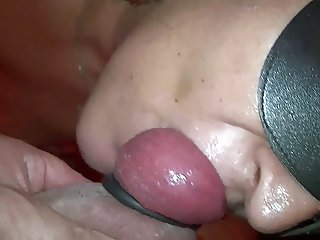 sucking cum-filled balls