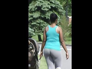 Bubble Booty Ass Butt In Gray Sweats