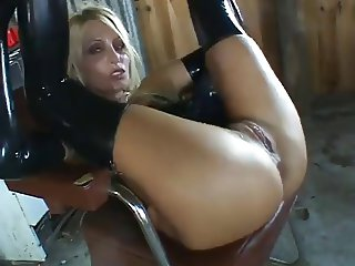 hot blonde latex fuck