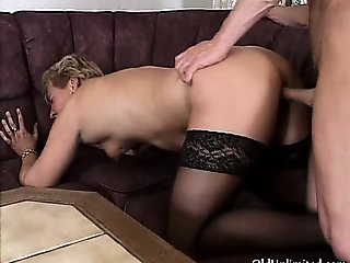 Dirty mature bitch gets horny sucking part3