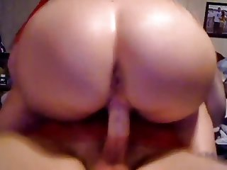 Big Bubble Ass Riding Cock