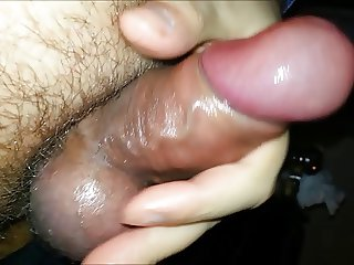 Lubed cock with cockring