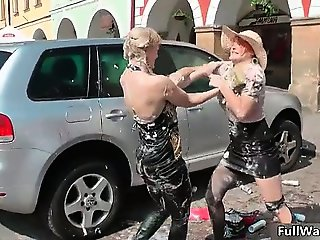 Two busty lesbians gets horny when part4