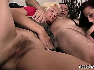 Threesome with the future in laws