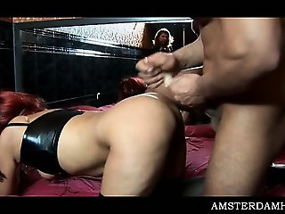 Amsterdam slut pussy shagged doggy style by horny tourist