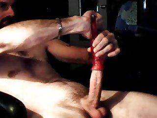 pumping cock with clit pump....