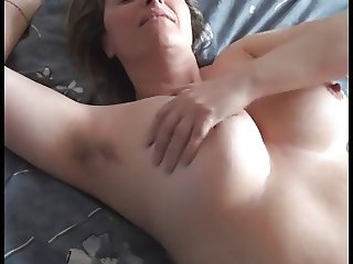 hairy wife rubbing and cumming by WF