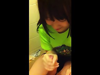 Asian cute girl blowjob