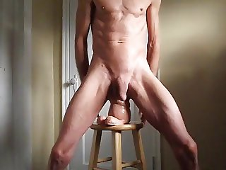 Ass Stretching with Walros Penis Toy