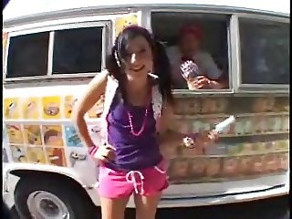 ice cream man fucking the hungry customer