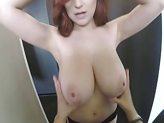 Tessa Fowler Guy Touching her Beautiful oiled Boobs