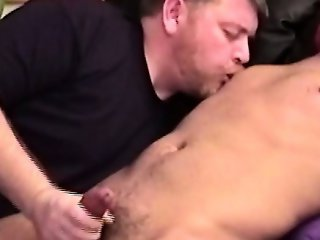 Mature bear loves loves young jizz