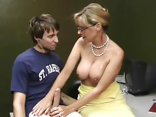 mature woman milks his penis WF
