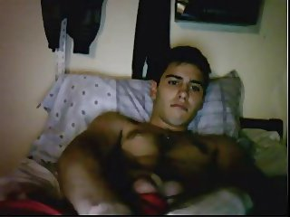 Straight guys feet on webcam #296