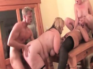 Three horny blonde mature sluts part3