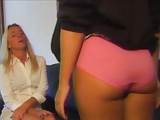 Bad girl in dirty cotton panties gets a humiliating spanking