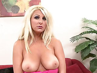 Fucks and cum on big breasts