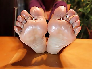 Oil Bottle Footjob