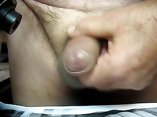 68yrold Grandpa &25 mature penis close uncut wank