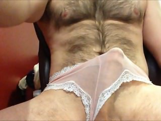cumming in my girl's see-through panties