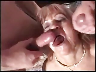 magnificent MILFs and GILFs sperm orgy and facial part I