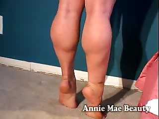 Annie Mae Showing Off Legs And Feet