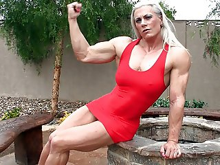 Skadi Seifert - Red Dress Muscle