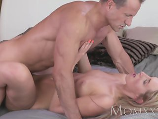 MOM Stunning blonde Milf sucks and fucks