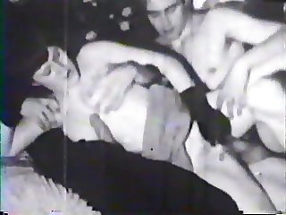 Black Gloves Handjob Threesome