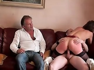 Cuckold GangBang of French Wife