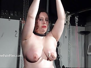 Crying fat slaveslut Nimues extreme whipping and stern