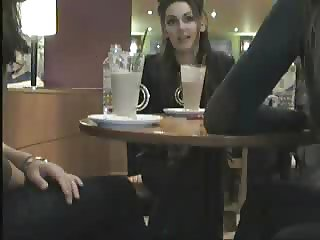 Flashing at a cafe