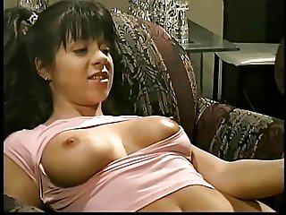 Monster black cock face and pussy fucks a lusty brunette with pigtails