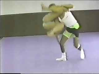 Tori wrestling in a Thong Swimsuit vs. a Man (Pre-WWF)