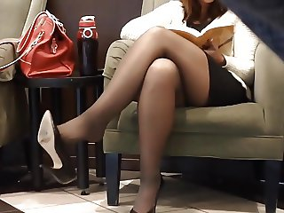Gold Candid Legs #7