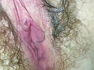 Wet and hairy wife