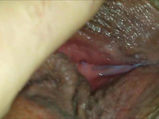 Horny wet MILF muff - closeup