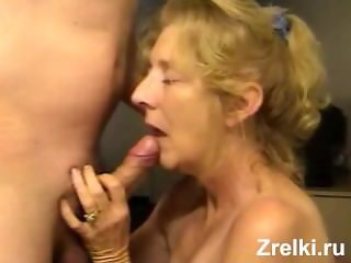Daddy fucks hard mature mommy in mouth and cums on face. Homemade