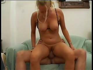 juicy german amateur blonde fucking on couch