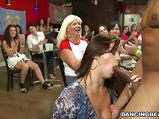 Dancing Bear Blowjob Party At The Stripper Club