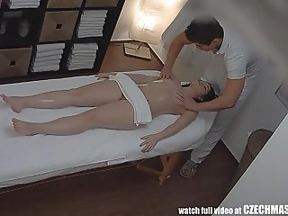 Horny Red Head Girl Gets Fucked by Masseur