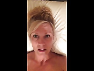 Milf Selfie on Bed with Vibrator