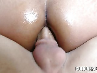 Anal virgin takes two cocks in the ass