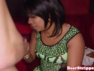 CFNM amateur facialized at blowjob party with voyeurs