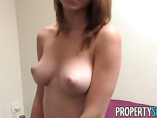 PropertySex - Nudist tenant with amazing natural tits