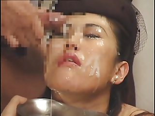 Massive Asian Bukkake with Swap and Swallow 3