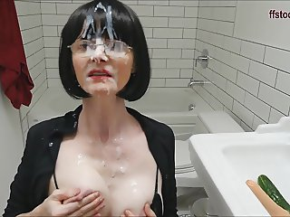 Cum covered mature tramp